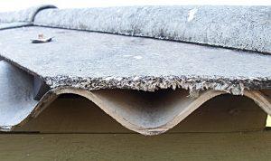 Loose asbestos fibers